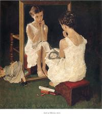 Girl at mirror